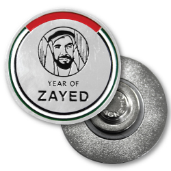 YEAR OF ZAYED'S custom coin and badges